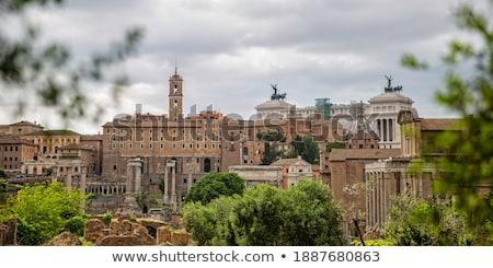 View at Palazzo Senatorio in Rome, Italy Stock photo © boggy