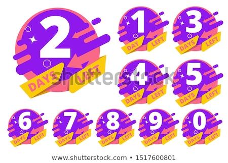 number of days left colorful symbol design Stock photo © SArts