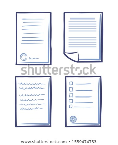 Set Commercial Documentation Templates, Web App Stock photo © robuart