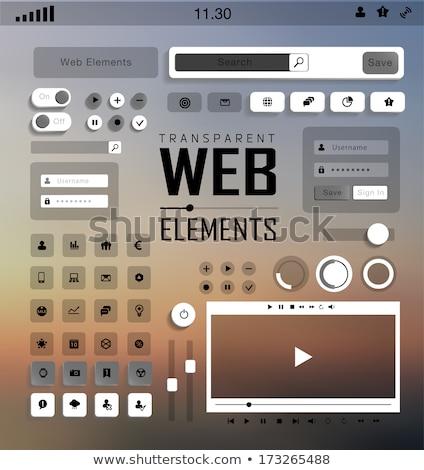 Glossy Transparent Buttons Transparent Header Stock photo © limbi007