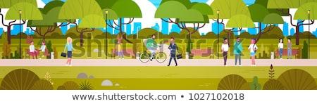 bicicleta · cara · bicicleta · rua · saltar · diversão - foto stock © robuart