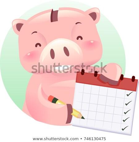 Persely robot kabala heti költségvetés menetrend Stock fotó © lenm