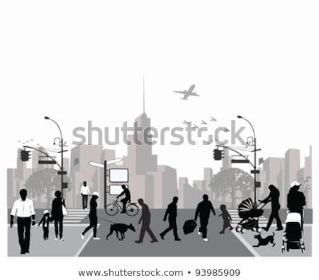 futurystyczny · Cityscape · streszczenie · ilustracja · panoramę · drogowego - zdjęcia stock © robuart