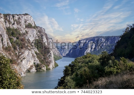 Danube river in the Iron Gates also known as Djerdap gorges in S Stock photo © boggy