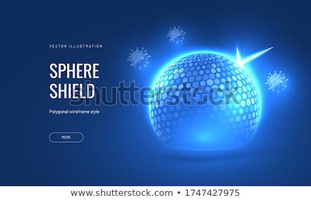 医療 保護 シールド 青 粒子 ストックフォト © SArts