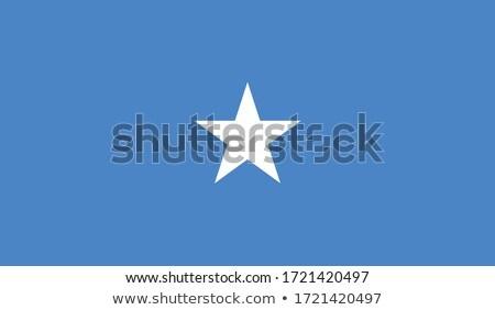 Somali banderą biały podpisania podróży Afryki Zdjęcia stock © butenkow