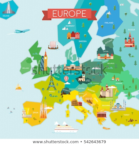 Lithuania travel map Stock photo © speedfighter