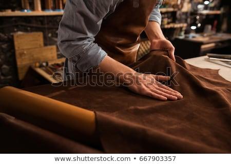Artesão trabalhar homem arte azul Foto stock © photography33