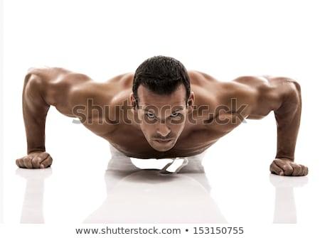 Hispanic athlete push-up Stock photo © aremafoto