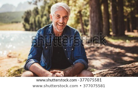 Stock photo: A mature man on holidays.