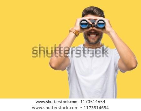 oude · man · verrekijker · licht · pak · horloge · hoed - stockfoto © photography33
