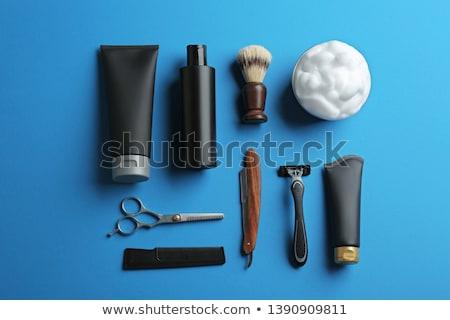 孤立した 白 ファッション 髪 男性 クリーン ストックフォト © kitch