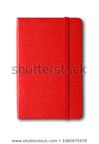 Red Notebook Isolated ストックフォト © Daboost