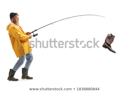 fishhook with old boot Stock photo © pterwort