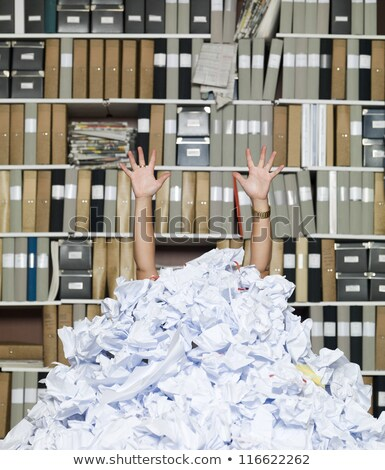 Woman swamped with paper work Stock photo © photography33