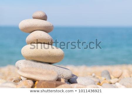 plage · cailloux · côte · mer · vagues - photo stock © tlorna