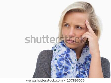 Ansioso bianco pensare femminile Foto d'archivio © wavebreak_media