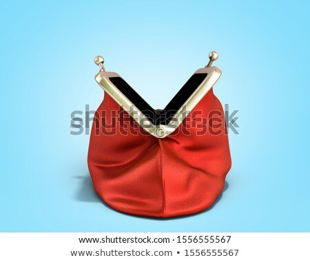 Stock photo: Purse full of coins