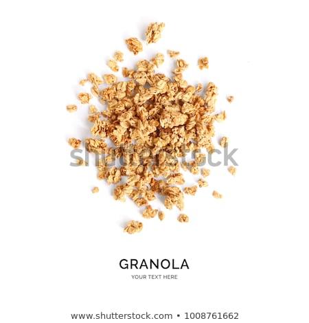 Stok fotoğraf: Granola · ev · yapımı · arka · plan · kahvaltı