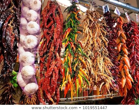 Piac Barcelona LA híres Spanyolország étel Stock fotó © adrenalina