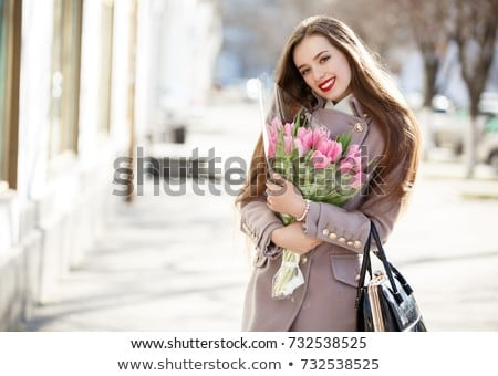 woman wearing wreath of flowers stock photo © dolgachov