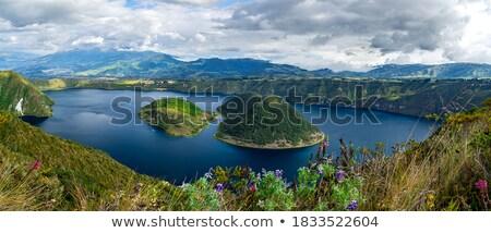 Islands in Lake Cuicocha Stock photo © rhamm
