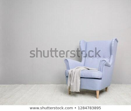 purple modern sofa isolated stock photo © tungphoto