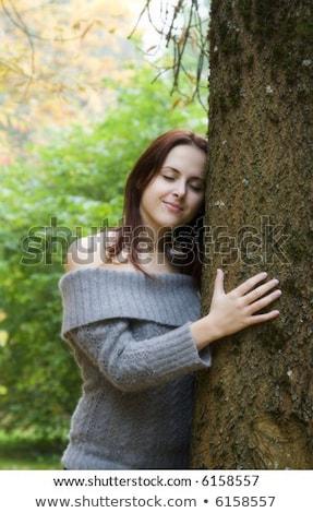 Teen Girl thinking while outside in the Autumn Season Stock photo © tab62