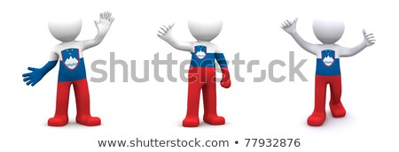 3d character textured with flag of Slovenia Stock photo © Kirill_M