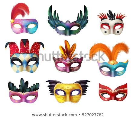 Carnaval máscara cartão postal arte cartão palhaço Foto stock © adrenalina