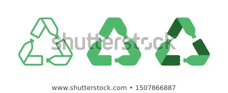 Recycle bottles logo Stock photo © shawlinmohd