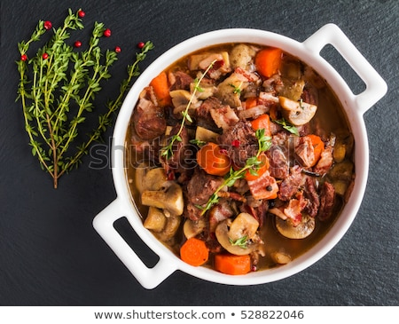 casserole with beef and vegetable Stock photo © M-studio