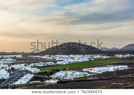 köy · İspanya · şehir · mavi · ülke · tatil - stok fotoğraf © meinzahn