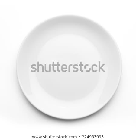 white plate stock photo © dvarg