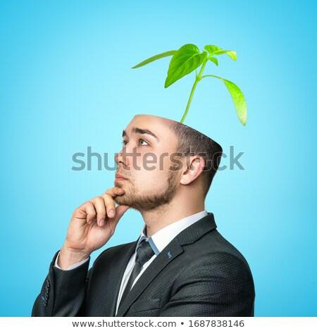 verschil · schone · haren · zwarte · huid · hoofd - stockfoto © hasloo