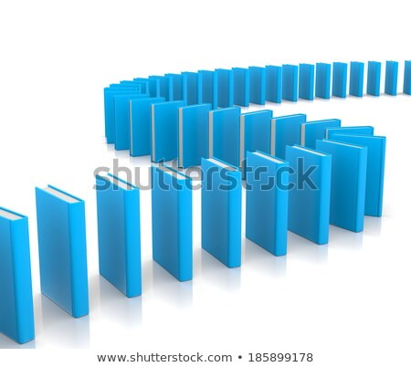 Dominó camino libros como blanco Foto stock © make