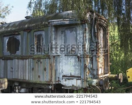 古い 列車 金属 業界 産業 ストックフォト © compuinfoto