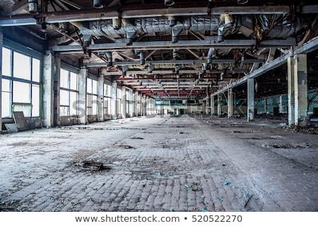 elhagyatott · gyár · ipari · épület · belső · plafon - stock fotó © pictureguy