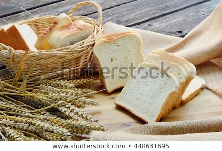 Pan blanco seis rebanadas pan vida sándwich Foto stock © raphotos