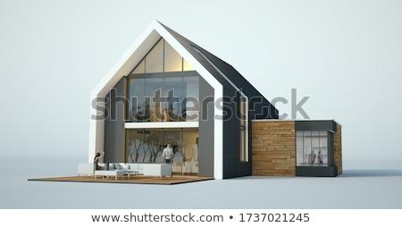 дизайна недвижимости бумаги домой карандашом Сток-фото © fantazista
