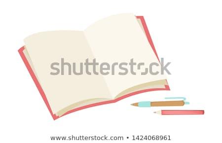 開いた本 · 日記 · スパイラル · ウェブ · カード - ストックフォト © -baks-