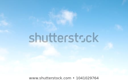 Sunny sky with clouds in wind day Stock photo © BSANI