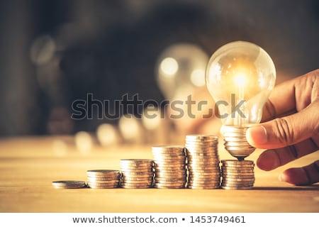 Mains connecter ampoule mettre énergie main Photo stock © vgarts
