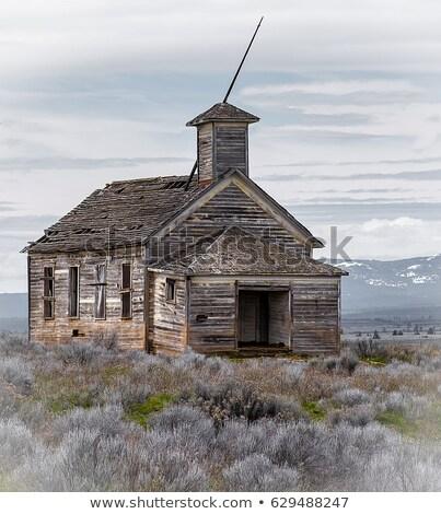 Elhagyatott iskola ház egy szoba Kanada Stock fotó © pictureguy