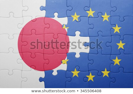 Japan and European Union Flags in puzzle  Stock photo © Istanbul2009