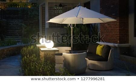 umbrella lighted lamp Stock photo © bendzhik