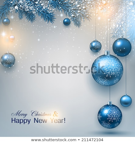 Christmas and New Year festive card with  firtree   Stock photo © Valeriy