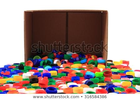 pet caps in the paper box  Stock photo © jonnysek