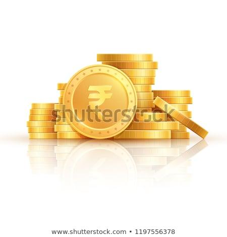Rupee Sign Yellow Vector Icon Design Stock photo © rizwanali3d