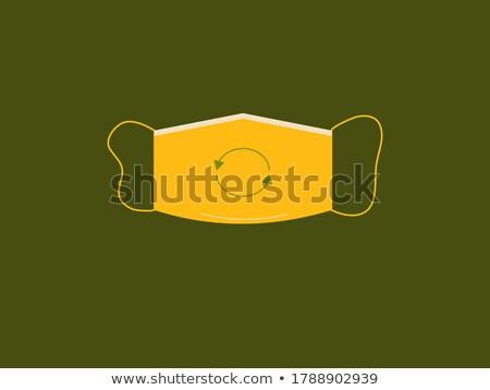 Umweltfreundlich gelb Vektor Symbol Design digitalen Stock foto © rizwanali3d